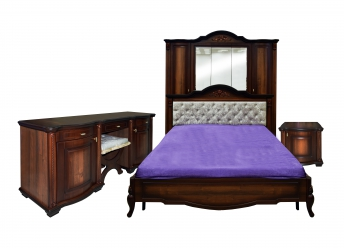 """Спальня 5-дв. """"Лаванда"""" эмаль орех"""