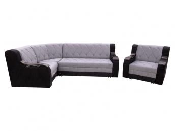 Угловой диван лорд ромб + кресло кровать