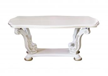 Журнальный стол обед. Фигурный, слоновая кость